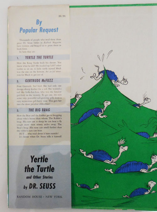 Yertle The Turtle And Other Stories Children S Dr Seuss First Edition October 18, 1994, random house value publishing. yertle the turtle and other stories by children s dr seuss on derringer books