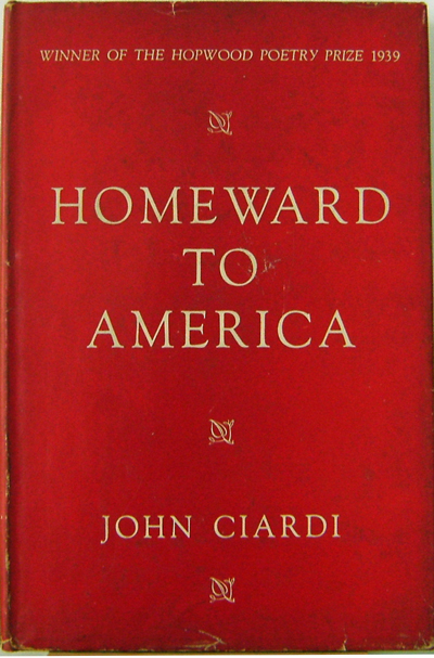 Homeward to America. John Ciardi.