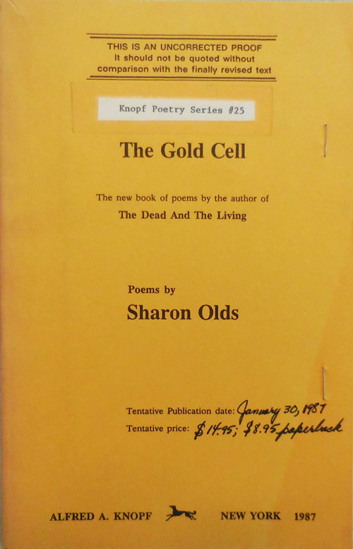 The Gold Cell. Sharon Olds.