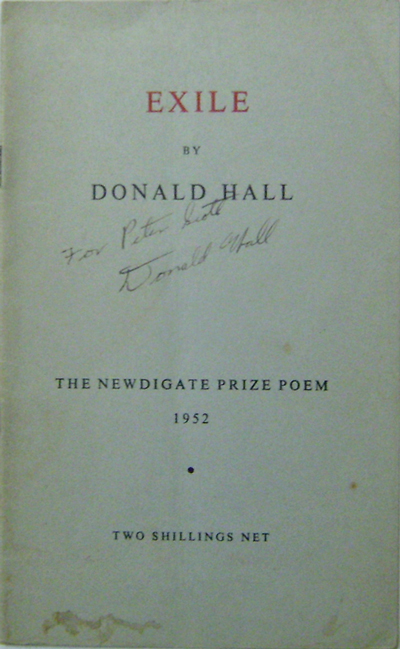 Exile. Donald Hall.