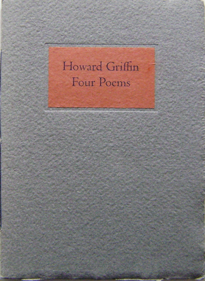 Four Poems. Howard Griffin.