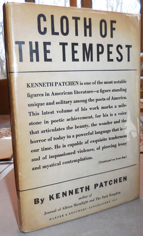 Cloth of the Tempest. Kenneth Patchen.