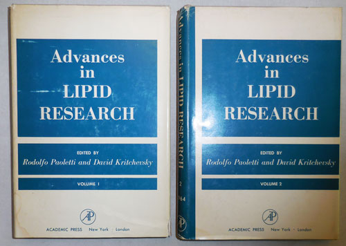 Advances in Lipid Research Volumes I and II. Rudolfo Paoletti, Co- Kritchevsky.