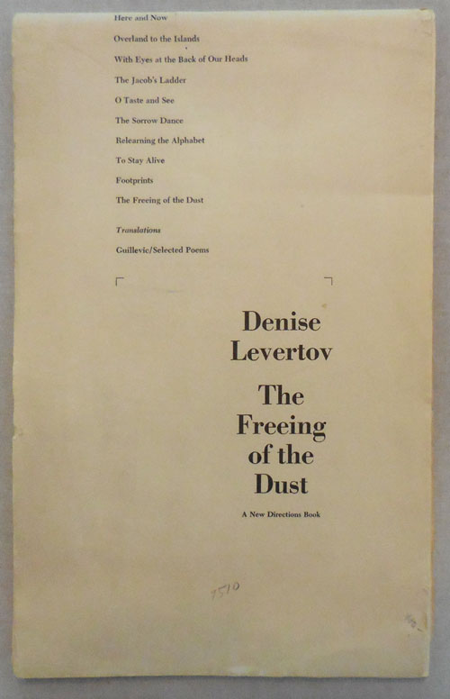 The Freeing of the Dust. Denise Levertov.