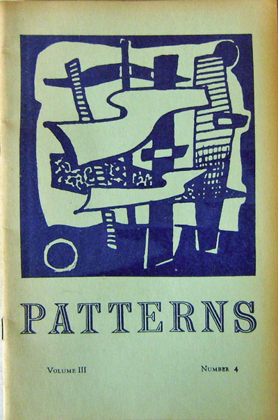 Patterns Volume III Number 4. Gladys LaFlamme, Arthur Perretta Donald W. Bolin, Mary Oliver, David Pearson Etter.