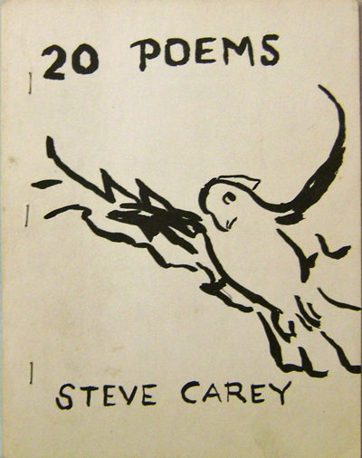 20 Poems (Inscribed by Carey and Signed by Notley). Cover, Alice Notley.