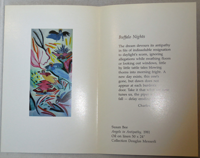Christmas Broadside (Buffalo Nights). Charles Bernstein, Susan Bee.