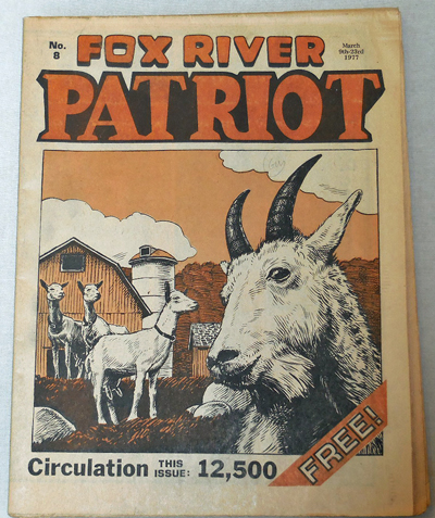Fox River Patriot No. 8. Michael Alternative Newspaper - Jacobi, Denis Kitchen, Art.