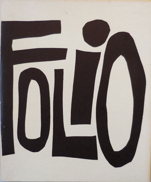 Folio Volume IV No. 1. Adele Sophie De La Barre, Russell Banks Simon Perchik, Hugh B. Fox, Margaret Randall, Lyn Lifshin.