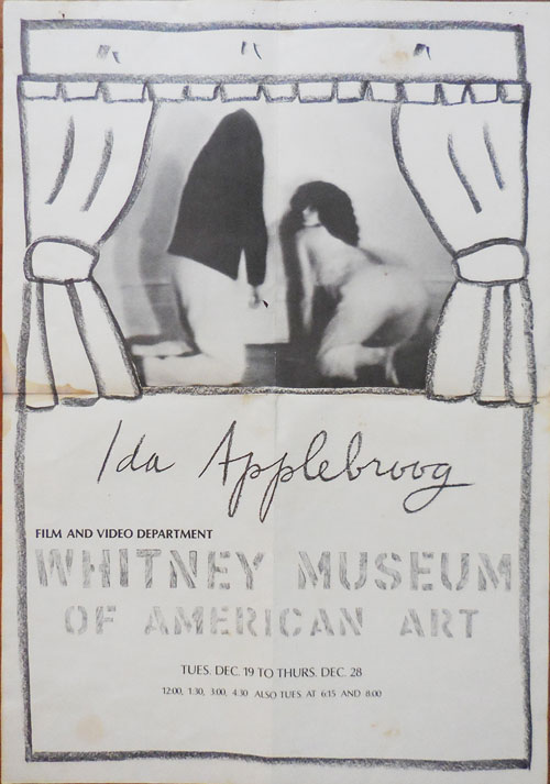 Whitney Museum Art Exhibition Poster for a 1978 Show of Material by Ida Applebroog. Art Poster - Ida Applebroog.