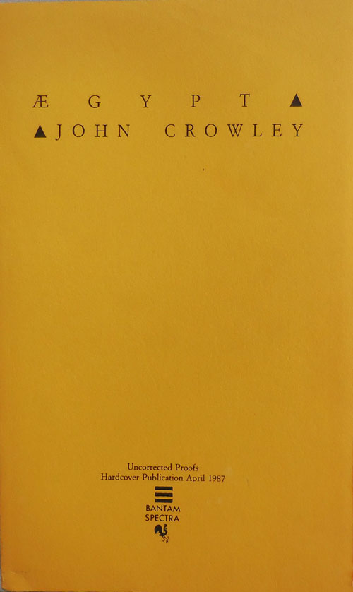 Aegypt (Uncorrected Proofs). John Fantasy - Crowley.