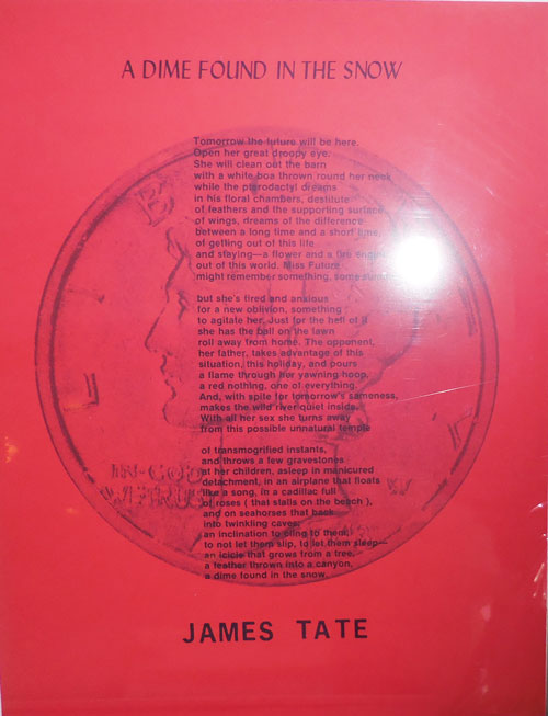A Dime Found In The Snow. James Broadside - Tate.