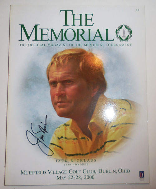 The Memorial - The Official Magazine of the Memorial Tournament (Signed by Nicklaus). Golf - Jack Nicklaus.