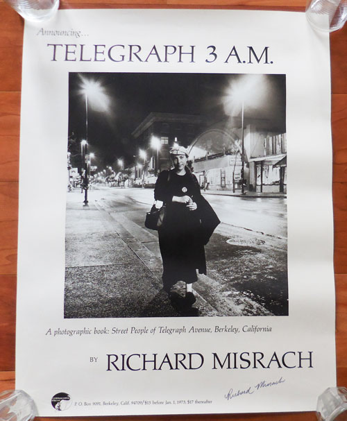 Promotional Poster for Telegraph 3 A.M. (Signed). Richard Photography - Misrach.