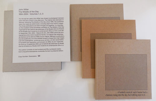 The Middle of the Day Volumes 1,2,3. John Artist Books - Miller.