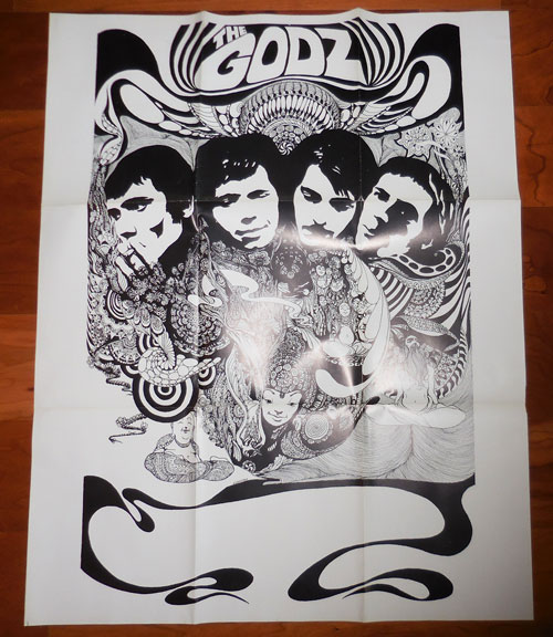 Promotional Poster for The Godz. Rock Poster - The Godz, H. Bernstein.