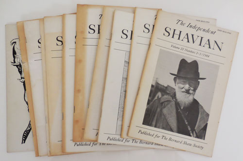 The Independent Shavian 10 Issues of the Journal of the Bernard Shaw Society, Inc.). Daniel Leary, Richard Nickson, George Bernard Shaw.