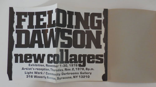 Fielding Dawson: New Collages. Fielding Dawson.