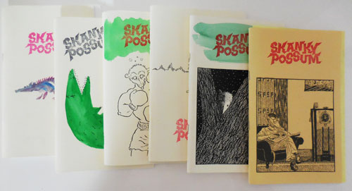 Skanky Possum Issues 1, 2, 3, 4, 6 and 9 (Six Issues). Hoa Poetry Magazines - Nguyen, Eileen Myles Clark Coolidge, Bill Berkson.