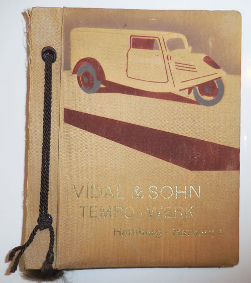 Vidal & Sohn Tempo-Werk (Photo-Album). Automotive, Photo-Album - Vidal, Sohn.