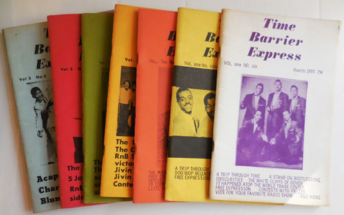 Time Barrier Express (Seven Early Issues). Rock Doo-Wop, Roll and R., Bill B Periodical - Schwartz, Roll, R.