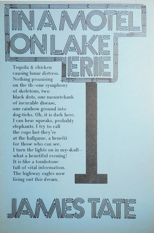 In A Motel On Lake Erie (Poetry Postcard). James Tate.