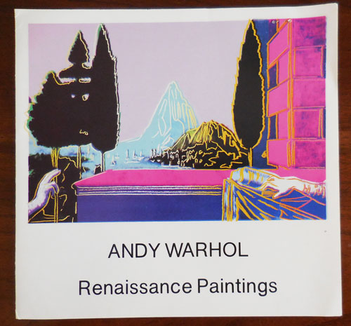 Andy Warhol Renaissance paintings (Exhibition Announcement Card). Andy Art Ephemera - Warhol.