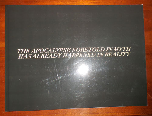 Before; The Apocalypse Foretold In Myth Has Already Happened In Reality. Abraham Artist Book - Adams.