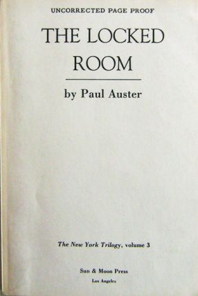 The Locked Room (Uncorrected Proof). Paul Auster