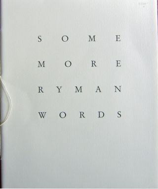Some More Ryman Words. Robert Art - Ryman