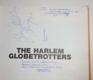 The Harlem Globetrotters An Illustrated History (Signed)