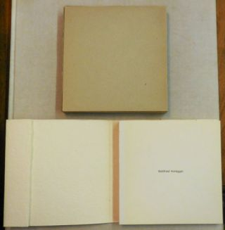 Bon a Tirer - Ateliers Lafranca no. 1. Gottfried Artist Book - Honegger