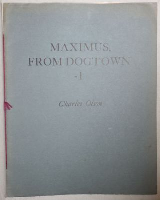 Maximus, From Dogtown - I. Charles Olson