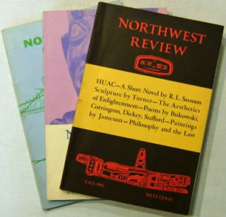 Northwest Review Fall 1962, Spring 1963, and Volume XVII, Number 1 (3 Issues). Charles Bukowski, William, Stafford, William, Dickey.