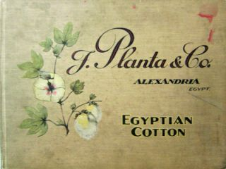 F. Planta & Co. Alexandria Egypt (Company Book). Photography - F. Planta, Co