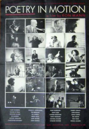 Poetry In Motion. Ron Film Poster - Mann, Charles Bukowski, Michael, Ondaatje, Ted, Berrigan,...
