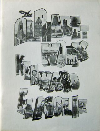 The Alphabet Work (Signed Limited Edtion). Kenward Elmslie