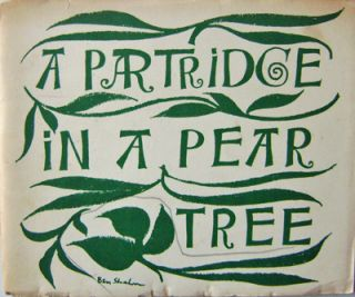 A Partridge In A Pear Tree (Inscribed). Ben Christmas - Shahn