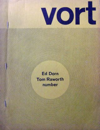 VORT #1 (Inscribed). Ed Dorn, Tom Raworth