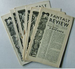 Fantasy Review (Six Early Issues). Frank Edward Arnold August Derleth, Forrest J. Ackerman, Nigel...