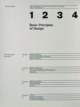 Basic Principles of Design (4 Volume Set in Slipcase). Manfred Design - Maier