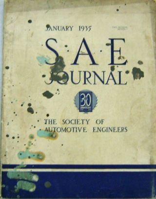 S.A.E. Journal January 1935 - June 1935 (Six Issues)