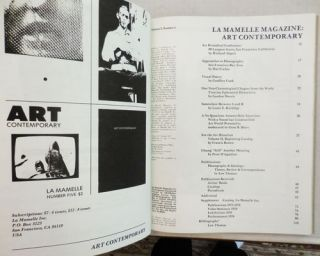 La Mamelle Magazine: Art Contemporary. Hal Fischer Richard Alpert, Geoffrey Cook, Contributors,...