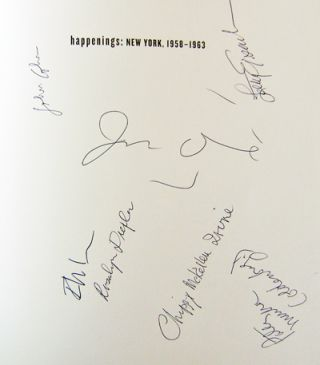 Happenings: New York, 1958 - 1963 (Signed by Seven Artists)