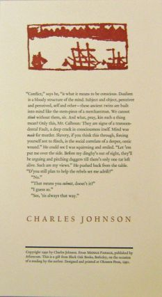 Untitled Broadside from Middle Passage. Charles Johnson