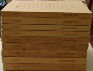 Prose Magazine Issues 1-9 Complete Set