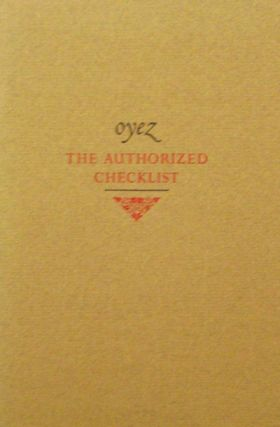 Oyez The Authorized Checklist. Dave Bibliography - Bohn.