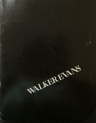 250 Photographs by Walker Evans. Walker Photography - Evans, Arnold H. Crane