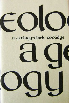 A Geology. Clark Coolidge