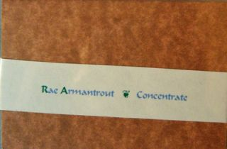 Concentrate (Signed). Rae Armantrout.
